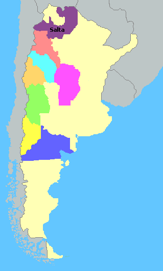 Map of Argentina Wine Regions