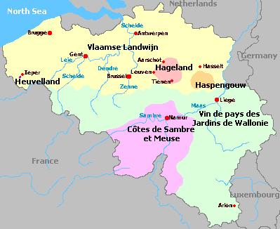 Belgium - Belgium regions map