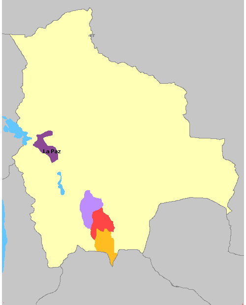 Map of Bolivia Wine Regions