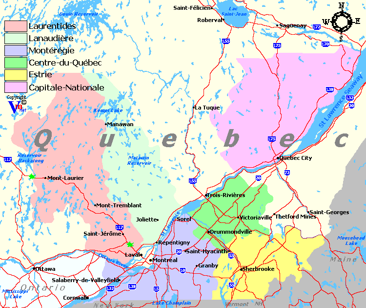Quebec wine regions map and quebec wineries map of wine regions in quebec gumiabroncs Image collections
