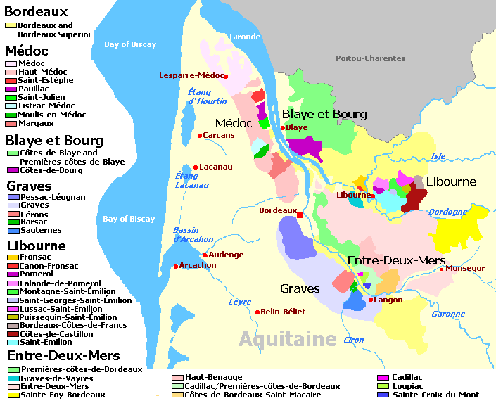 Aquitaine Wine Regions