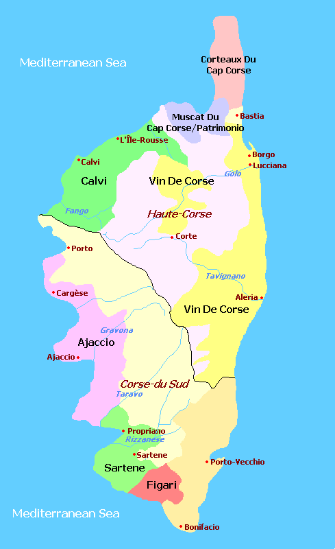 Corsica Wine Regions, France