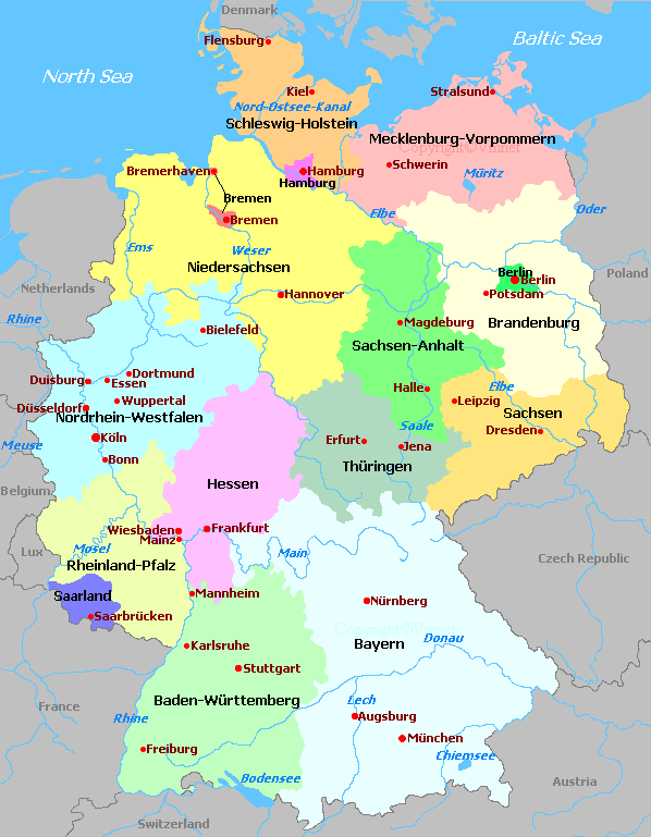 Map Of South Germany.Germany