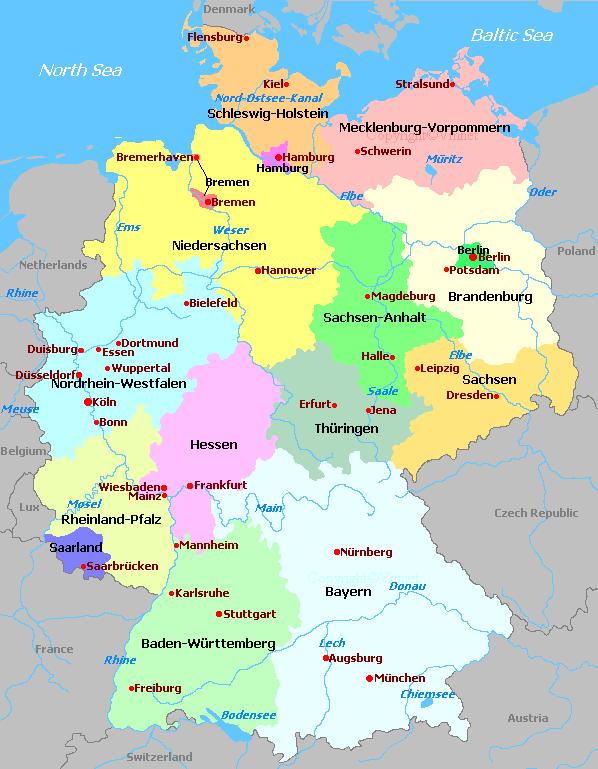 Germany - Germany map regions