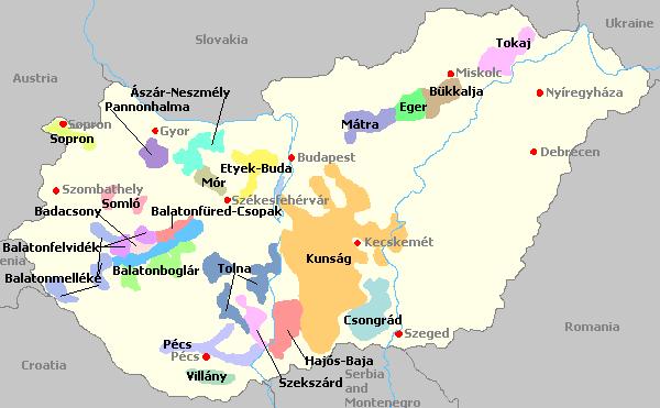 Wine Regions In Hungary