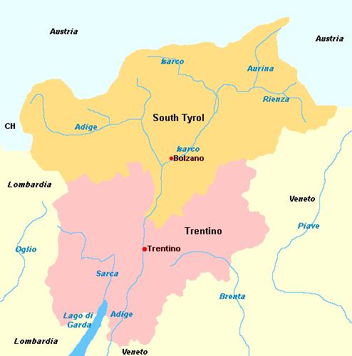 Cartina Italia Trentino Alto Adige.Trentino Alto Adige Italy