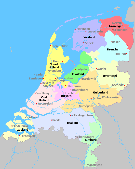 Netherlands map of netherlands gumiabroncs Gallery