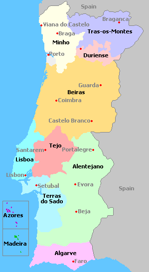 Portugal - Portugal map minho