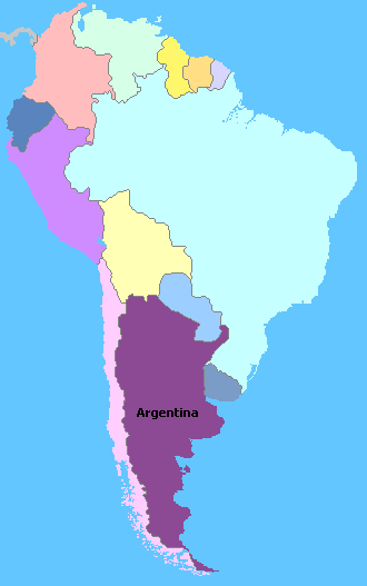 Map of South America Wine Regions