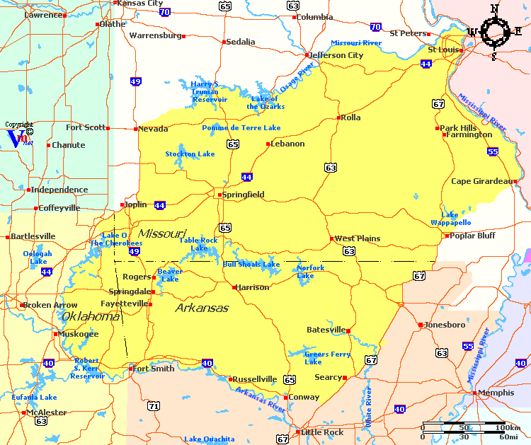 Gallery For Gt Ozark Mountains Map